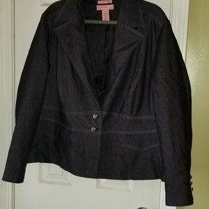Denim Blazer Jacket Not Torrid Brand